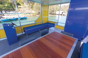 BBQ Boat Hire Interior